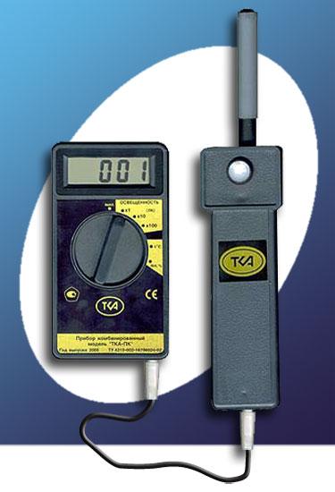 Люксметр + Измеритель температуры и влажности (модель 43)